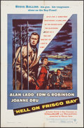 "Movie Posters:Crime, Hell on Frisco Bay (Warner Brothers, 1955). One Sheet (27"" X 41"").Crime.. ..."