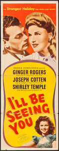 """Movie Posters:Drama, I'll Be Seeing You (United Artists, 1944). Insert (14"""" X 36""""). Drama.. ..."""