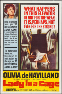 """Lady in a Cage & Other Lot (Paramount, 1964). One Sheets (2) (27"""" X 41""""). Thriller. ... (Total: 2 Item..."""