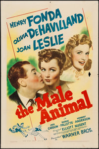"""The Male Animal (Warner Brothers, 1942). One Sheet (27"""" X 41""""). Comedy"""