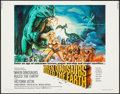 "Movie Posters:Fantasy, When Dinosaurs Ruled the Earth (Warner Brothers, 1970). Half Sheet(22"" X 28""). Fantasy.. ..."