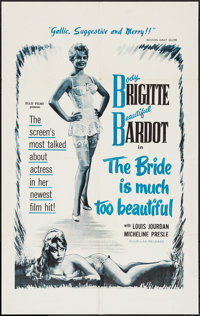 "The Bride is Much Too Beautiful (Ellis-Lax, 1958). One Sheet (27"" X 41""). Foreign"