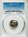 Proof Roosevelt Dimes, 1976-S 10C PR70 Deep Cameo PCGS. PCGS Population (261). NGC Census:(7). Numismedia Wsl. Price for problem free NGC/PCGS c...