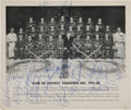 Hockey Collectibles:Photos, 1951-52 Montreal Canadiens Team Signed Photograph....