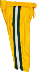Football Collectibles:Uniforms, 1994 Brett Favre Game Worn Green Bay Packers Playoff Pants. ...