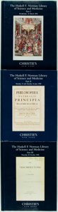 Books:Medicine, [Auction Catalogues]. [Science and Medicine]. Christie's. TheHaskell F. Norman Library of Science and Medicine. ... (Total:3 Items)