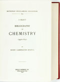 Books:Reference & Bibliography, Henry Carrington Bolton. A Select Bibliography of Chemistry,1492-1892. Millwood: Kraus Reprint Co., 1973....