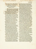Books:Early Printing, [Early Printing]. [Girolamo Beivieni]. Sixteenth-CenturyDouble-Sided Leaf from Canzoni E Sonetti dell'Amore, etc....