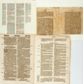 Books:Early Printing, [Early Printing]. Group of Four Sixteenth-Century Printed Leaves.Various publishers and dates. ...
