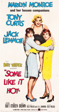 "Movie Posters:Comedy, Some Like It Hot (United Artists, 1959). Three Sheet (41"" X 78"")....."