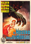 "Movie Posters:Horror, Phantom of the Rue Morgue (Warner Brothers, 1956). Italian 4 -Foglio (55"" X 77.5"").. ..."