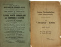 Miscellaneous:Catalogs, Pair or Early Twentieth-Century British Real Estate AuctionCatalogues. Various publishers, 1818, 1919. ...