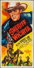 "Movie Posters:Western, Sheriff of Wichita & Other Lot (Republic, 1948). Three Sheet(41"" X 79.25"") and Lobby Card (11"" X 14""). Western.. ... (Total: 2Items)"