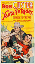 "Movie Posters:Western, Santa Fe Rides (Reliable, 1937). Three Sheet (41"" X 77.5"").Western.. ..."