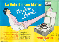 """Pathe-Marconi Model 555-C (Pathe Marconi, 1960s). French Advertising Grande (45.5"""" X 62.5""""). Miscellaneous..."""
