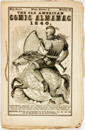 Books:Americana & American History, [Comic Almanac]. The Old American Comic Almanac for 1840.New Series, Whole Number X, Number II. Bos...