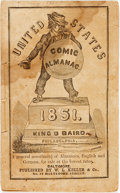 Books:Americana & American History, [Comic Almanac]. United States Comic Almanac for 1851. Philadelphia: King and Baird, [1850]. ...