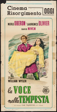 "Wuthering Heights (ENIC, 1945). First Post-War Release Italian Locandina (13.75"" X 27.25""). Romance"