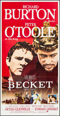 "Becket (Paramount, 1964). Three Sheet (41"" X 78""). Drama"
