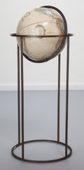 Decorative Accessories, After Paul McCobb (American, 1917-1969). Globe and Stand, circa 1960. Metal, Paper. 35 inches high (88.9 cm). ...