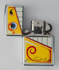 Post-War & Contemporary:Contemporary, Kenny Scharf (American, b. 1958). Zippo Lighter, 1993.Enameled lighter. 2-1/8 inches high (5.4 cm) (lighter). Ed.304/9...