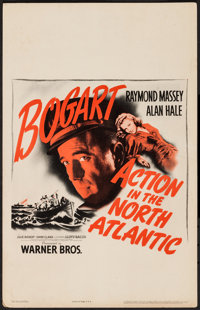 "Action in the North Atlantic (Warner Brothers, 1943). Window Card (14"" X 22""). War"
