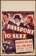 "Movie Posters:Crime, Passport to Suez (Columbia, 1943). Window Card (14"" X 22""). Crime.. ..."