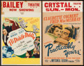 """Movie Posters:Comedy, Practically Yours & Other Lot (Paramount, 1944). Window Cards(2) (14"""" X 22""""). Comedy.. ... (Total: 2 Items)"""