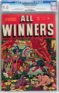 Golden Age (1938-1955):Superhero, All Winners Comics #12 (Timely, 1944) CGC VF/NM 9.0 Off-white to white pages....