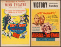 """Movie Posters:Comedy, Abroad with Two Yanks & Other Lot (United Artists, 1944). Window Cards (2) (14"""" X 22""""). Comedy.. ... (Total: 2 Items)"""
