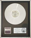 "Movie/TV Memorabilia:Awards, An RIAA Platinum Record Award for ""Rocky.""..."
