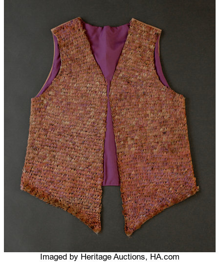 Nicki Marx (American , 20th Century)Vest, 1979Feathers, leather and satin24 inches high x 18 inches wide (61.0 x 4...
