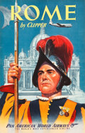 "Movie Posters:Miscellaneous, Rome Pan American Travel Poster (1950s). Full-Bleed Poster (25"" X39"").. ..."