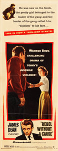 "Movie Posters:Drama, Rebel without a Cause (Warner Brothers, 1955). Insert (14"" X 36"")....."