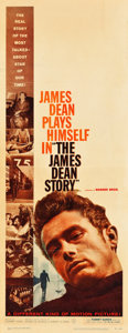"Movie Posters:Documentary, The James Dean Story (Warner Brothers, 1957). Insert (14"" X 36"").. ..."