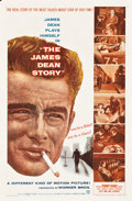 """Movie Posters:Documentary, The James Dean Story (Warner Brothers, 1957). One Sheet (27"""" X 41"""").. ..."""