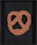Prints, Claes Oldenburg (American, b. 1929). N.Y.C. Pretzel, 1994. Lithograph on corrugated cardboard. 6 x 6 x 0-1/2 inches (15....