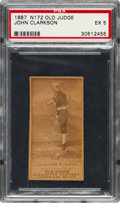 Baseball Cards:Singles (Pre-1930), 1887 N172 Old Judge John Clarkson, Boston (#78-7) PSA EX 5. ...