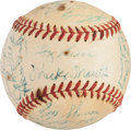 Baseball Collectibles:Balls, 1956 New York Yankees Team Signed Baseball. ...