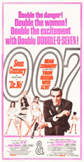 "Movie Posters:James Bond, Dr. No/From Russia with Love Combo (United Artists, R-1965). ThreeSheet (41"" X 80"").. ..."