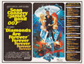 "Movie Posters:James Bond, Diamonds are Forever (United Artists, 1971). Subway (44.75"" X 59"")Advance Style.. ..."