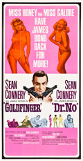 "Movie Posters:James Bond, Goldfinger/Dr. No Combo (United Artists, R-1966). Three Sheet (41""X 79.5"").. ..."