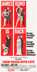 "Movie Posters:James Bond, From Russia with Love (United Artists, 1964). Three Sheet (41"" X80"") Style A.. ..."
