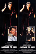 "Movie Posters:James Bond, Licence to Kill (United Artists, 1989). Door Panels (2) (20"" X 60"")2 Styles. James Bond.. ... (Total: 2 Items)"