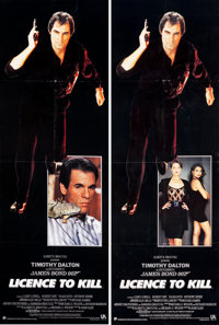"""Licence to Kill (United Artists, 1989). Door Panels (2) (20"""" X 60"""") 2 Styles. James Bond. ... (Total: 2 Items)"""