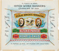 Political:Posters & Broadsides (1896-present), Parker & Davis: Colorful Jugate Sheet Banner AdvertisingPoster....