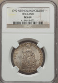 Netherlands:Holland, Netherlands: Holland Gulden 1790 MS64 NGC,...