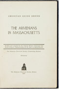 Books:Americana & American History, [American Guide Series]. The Armenians in Massachusetts.Boston: The Armenian Historical Society, 1937....