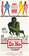 "Movie Posters:James Bond, Dr. No (United Artists, 1962). Three Sheet (41"" X 80"").. ..."