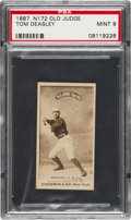"""Baseball Cards:Singles (Pre-1930), 1887 N172 Old Judge Tom Deasley (#121-4) PSA Mint 9 - Only Six""""Mint 9"""" N172s on Record! ..."""